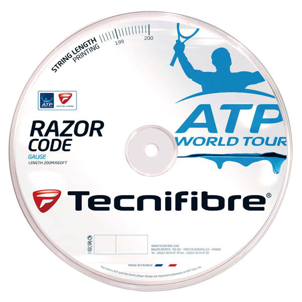 【ラッキーシール対象】 Tecnifibre(テクニファイバー)テニスガット・ラバーレーザーコード 1.20mmTFR513ブルー