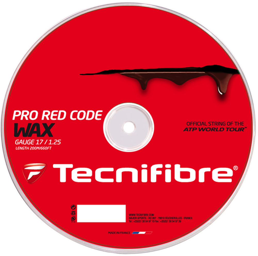 【ラッキーシール対象】BridgeStone(ブリジストン)テニスガット・ラバープロ レッド コード ワックス 1.25mmロールTFR521レッド