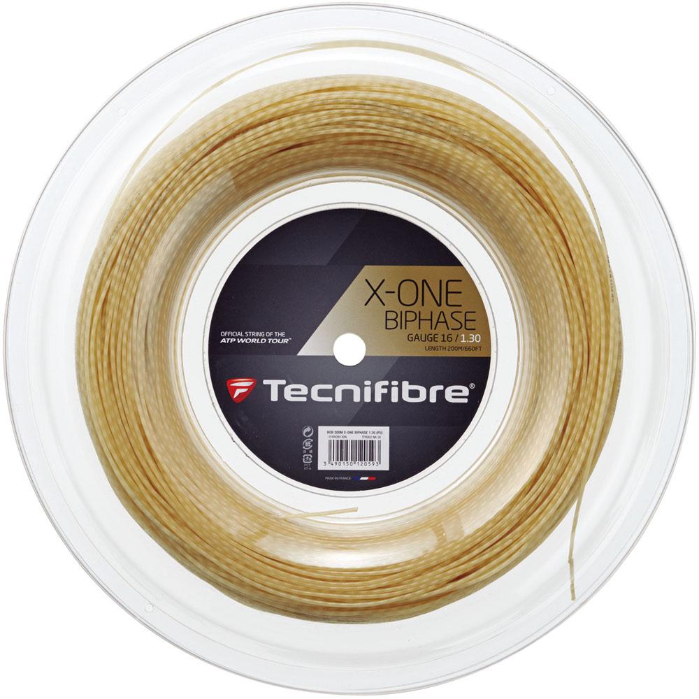【ラッキーシール対象】Tecnifibre(テクニファイバー)テニスガット・ラバーエックス・ワン バイフェイズ ロール200m ナチュラルTFR902ナチュラル