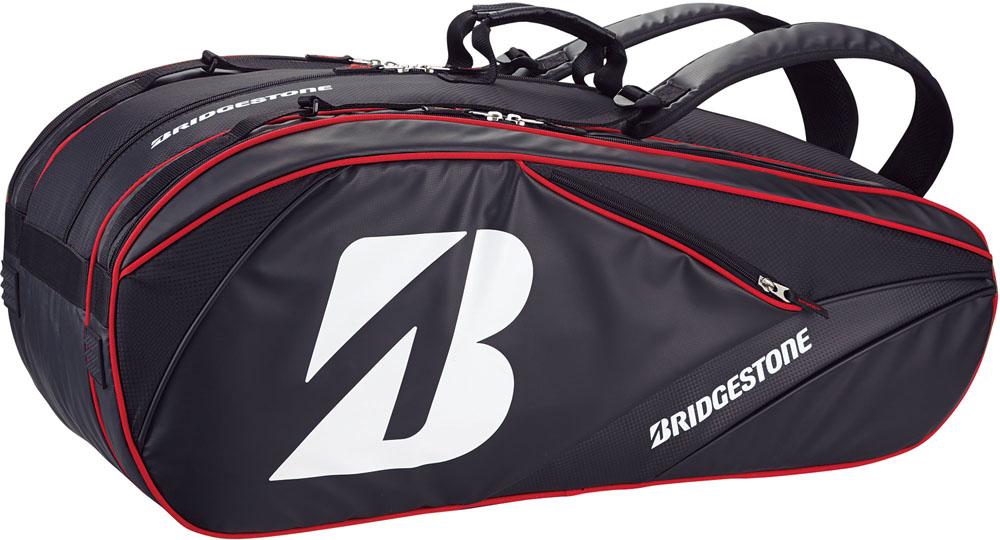 【ラッキーシール対象】BridgeStone(ブリヂストン)テニスバッグラケットバッグ10 ラケット10本入TRB761ブラック