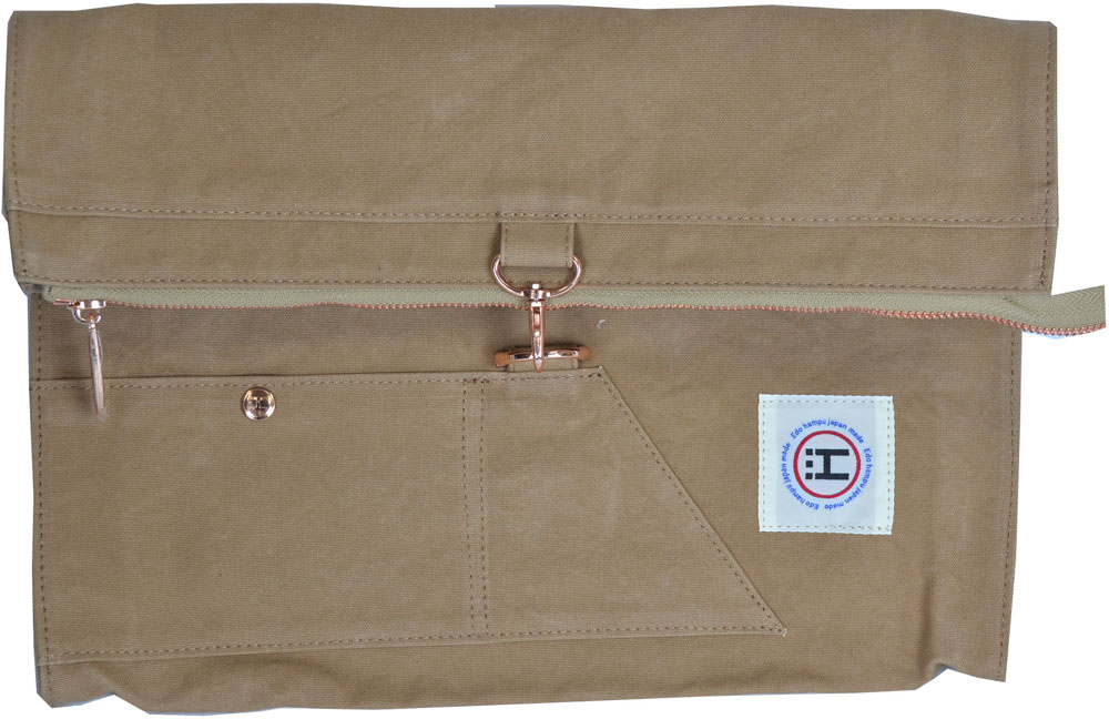 江戸ハンプアウトドアバッグ粋簾 CLUTCH BAG ( クラッチバッグ )EH006ベージュ