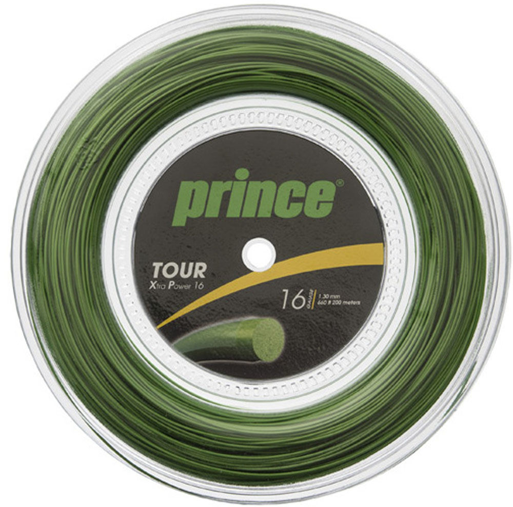 【ラッキーシール対象】Prince(プリンス)テニスガット・ラバーTour XP 16(200mリール)7J931030