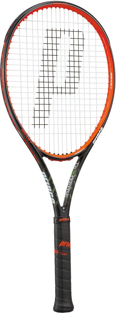 【ラッキーシール対象】Prince(プリンス)テニスラケット(硬式テニス用ラケット(フレームのみ)) ビースト100 280g ブラック×ビーストレッド7TJ062