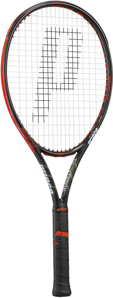 Prince(プリンス) テニス ラケット Prince(プリンス)テニス(硬式テニス用ラケット(フレームのみ)) ビースト オースリー 104 ブラック×ビーストレッド7TJ063