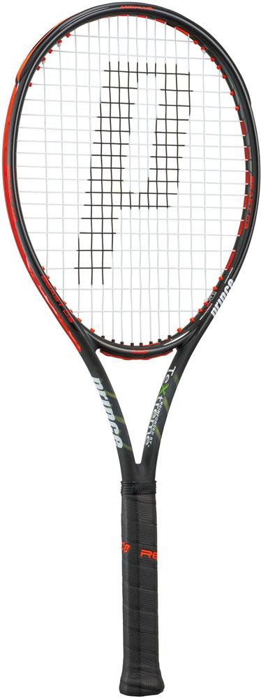 【ラッキーシール対象】Prince(プリンス)テニスラケット(硬式テニス用ラケット) ビースト オースリー 100 300g ブラック×ビーストレッド7TJ064