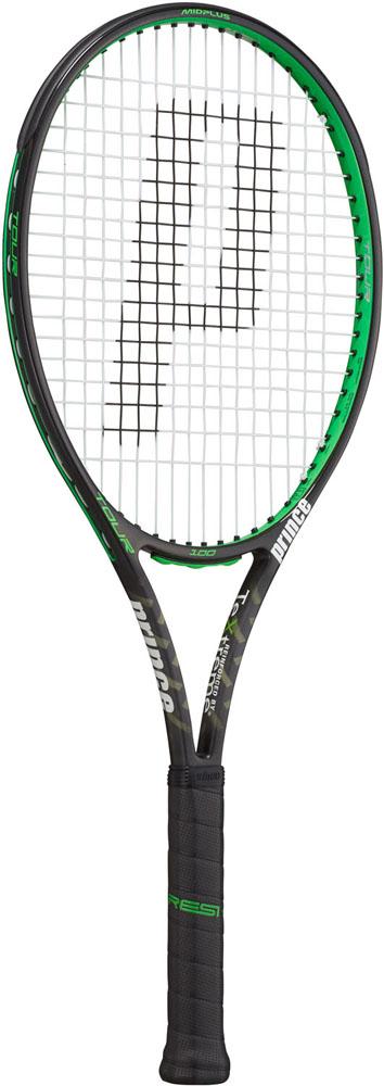【ラッキーシール対象】Prince(プリンス)テニスラケットテニスラケット ツアー100 ブラック×グリーン 310g7TJ074