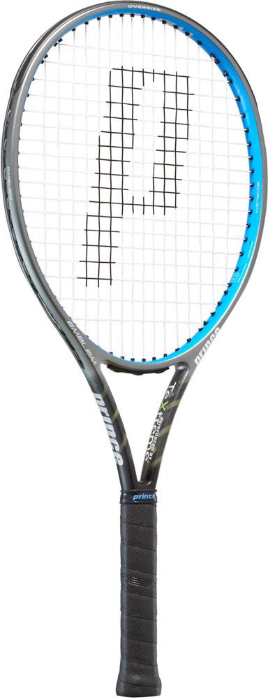 【ラッキーシール対象】Prince(プリンス)テニスラケットテニスラケット エンブレム110 ブラック×ブルー 255g7TJ078