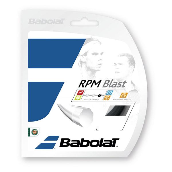 【ラッキーシール対象】Babolat(バボラ)テニスガット・ラバーRPMブラスト 120/125/130BA243101ブラツク