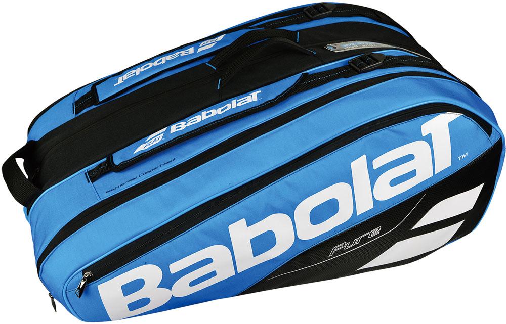 【ラッキーシール対象】Babolat(バボラ)テニスバッグラケットバッグ 12本収納可 RACKET HOLDER X12 ブルーBB751169BL