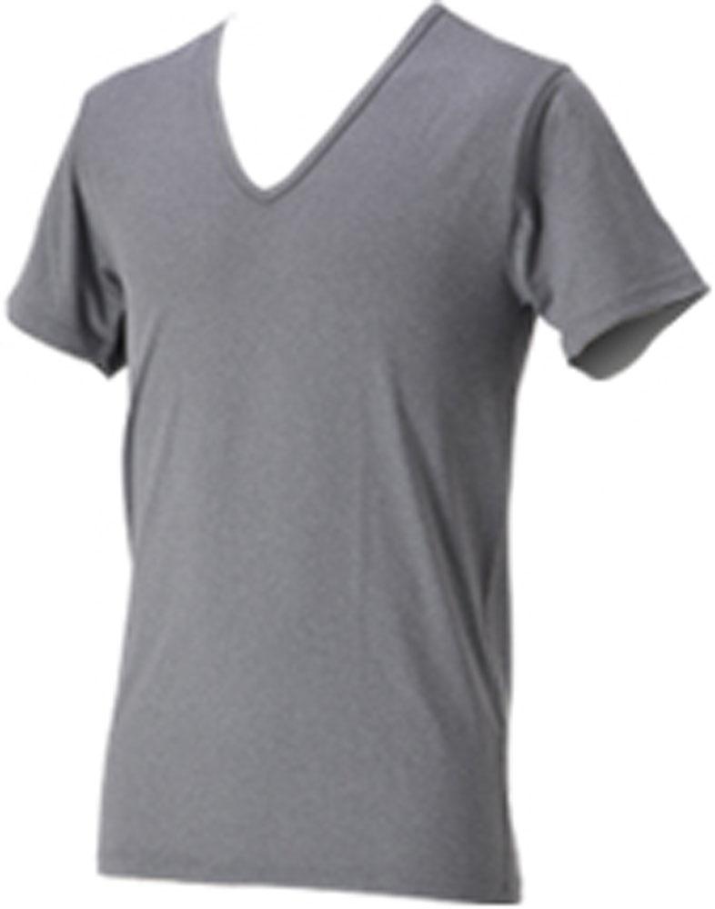 ファイテン PHITEN ボディケア ゲームシャツ バーゲンセール パンツ まとめ買い特価 RAKUシャツメンズインナーV首半袖 19日20時から20日限定 P最大10倍 杢グレー LLJG039206