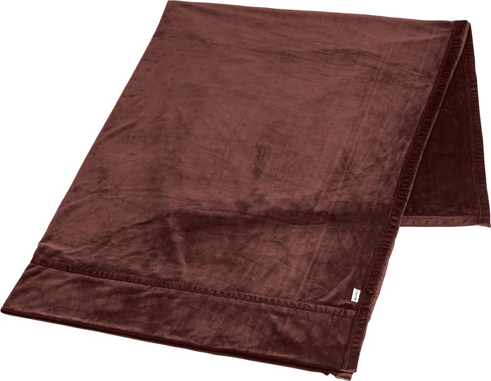 ファイテン(PHITEN)ボディケアPhiten 星のやすらぎ ストレッチ掛け毛布 ワインブラウン シングルYO624086