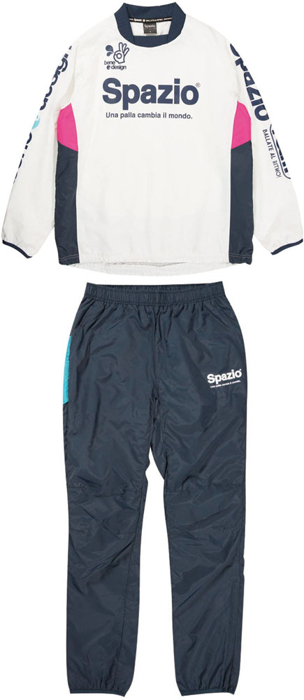 【ラッキーシール対象】SPAZIO(スパッツィオ)フットサルゲームシャツ・パンツ(男女兼用 サッカー・フットサルウェア) The SPAZIO piste SET(ピステセット)GE0396ホワイト