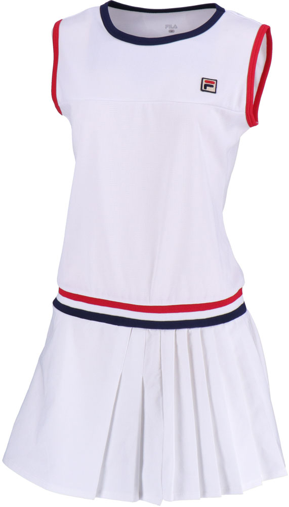 【ラッキーシール対象】FILA(フィラ)テニスウェアその他ノースリーブワンピースVL1915ホワイト