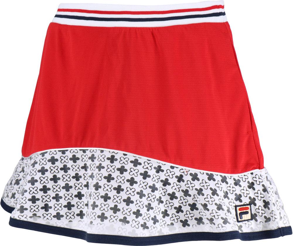【ラッキーシール対象】FILA(フィラ)テニスゲームシャツ・パンツスコートVL1956フィラレッド