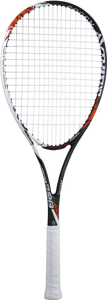 【ラッキーシール対象】GOSEN(ゴーセン)テニスラケットソフトテニスラケット アクシエス 300 張り上がり レッドSRA3MR