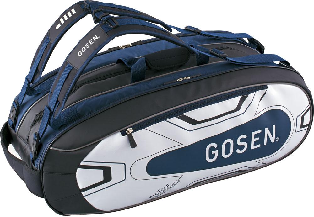 【ラッキーシール対象】GOSEN(ゴーセン)テニスバッグラケットバッグ ProTour(ラケット9本入)BA18PRTGネイビー