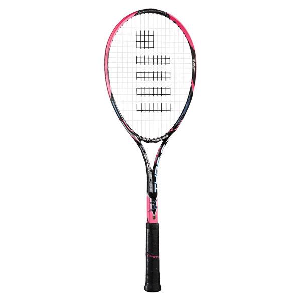 【ラッキーシール対象】GOSEN(ゴーセン)テニスラケットカスタムエッジ タイプ SSRCETSショッキングピンク