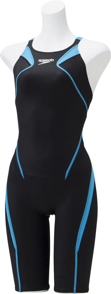 【ラッキーシール対象】Speedo(スピード)水泳水球競技水着アトラスニースキンジュニアSCG11906Fオーシャン