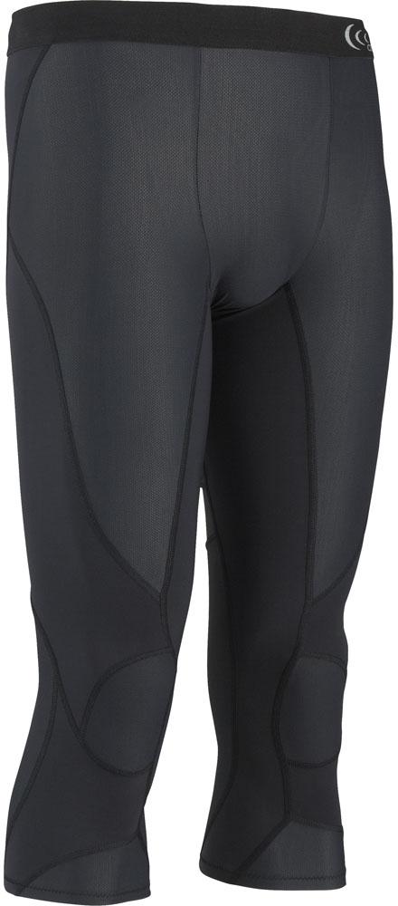 【ラッキーシール対象】C3fit(シースリーフィット)ボディケアゲームシャツ・パンツ【メンズ インナーウェア】 インパクトエアー 3/4タイツ MEN'S3F15328ブラック