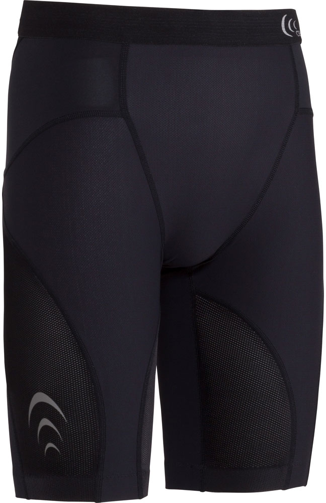 【ラッキーシール対象】C3fit(シースリーフィット)ボディケアゲームシャツ・パンツ【メンズ インナーウェア】 インパクトエアーハーフタイツ MEN'S3F17125ブラック