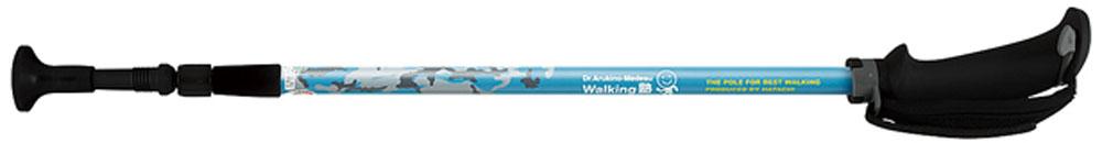 【ラッキーシール対象】HATACHI(ハタチ)ウエルネススキーポールポータブルアルミDフィットWH1050ライトブルー