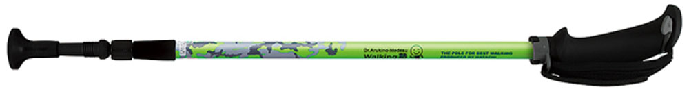 【ラッキーシール対象】HATACHI(ハタチ)ウエルネススキーポールポータブルアルミDフィットWH1050グリーン