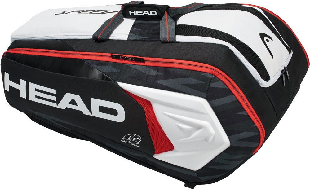 HEAD(ヘッド)テニスDJOKOVIC 12R MONSTERCOMBI ブラック×ホワイト テニス用ラケットバッグ(12本入)283008