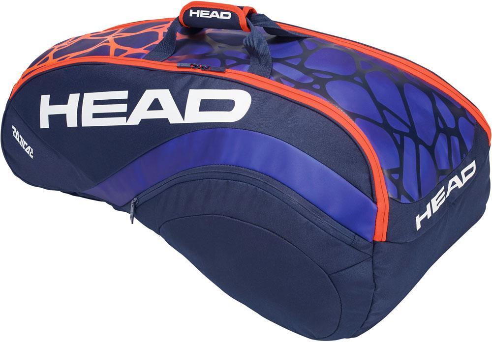 【ラッキーシール対象】HEAD(ヘッド)テニスバッグRADICAL9R SUPER COMBI ラジカル9R スーパーコンビ テニス用ラケットバッグ(9本入)283358BLOR