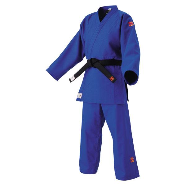 【ラッキーシール対象】 KUSAKURA(クザクラ)格闘技武道衣国際選手用柔道着 上衣・ズボンセット ブルー JNF35L(身長168~173cm)JNF35L