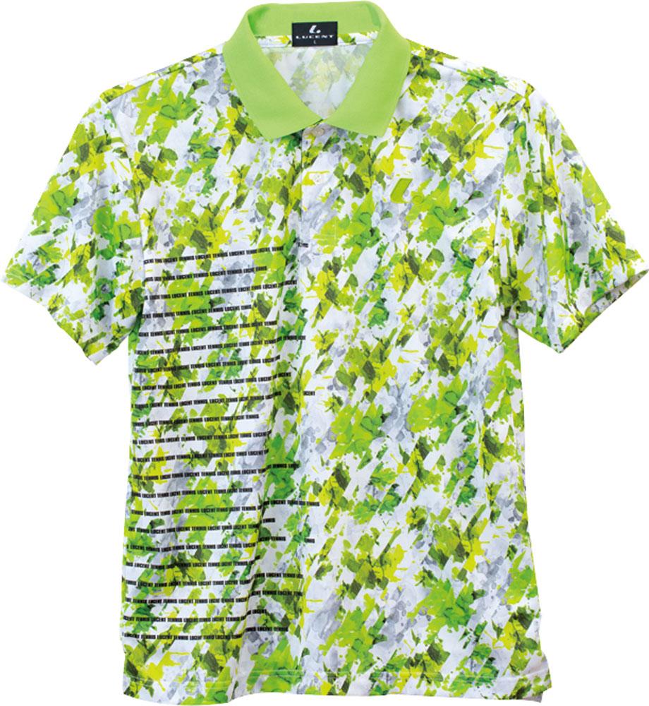 LUCENT(ルーセント)テニスユニセックス ゲームシャツ ライムXLP8425