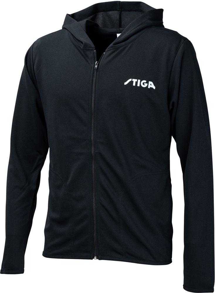 STIGA(スティガ) 卓球 スウェット・トレーナ STIGA(スティガ)卓球STIGAドライジップパーカーJP ブラック LL 1857-2211-071857221107