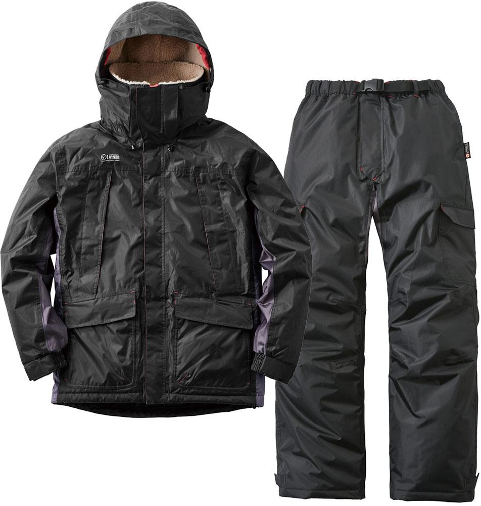 ロゴス(LOGOS)アウトドア動作快適防水防寒スーツ カーティス ブラック M30342713