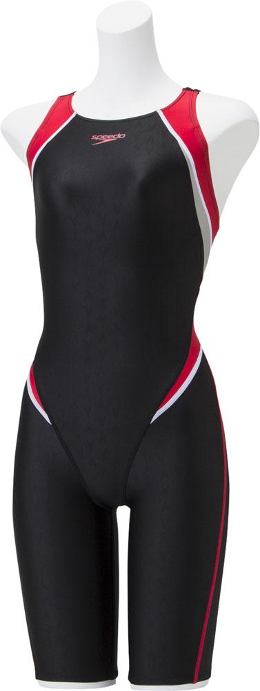 Speedo(スピード)水泳水球競技フレックスシグマ2 セミオープンバックニースキン レディース 競泳用水着 Fina承認SCW11910FRE