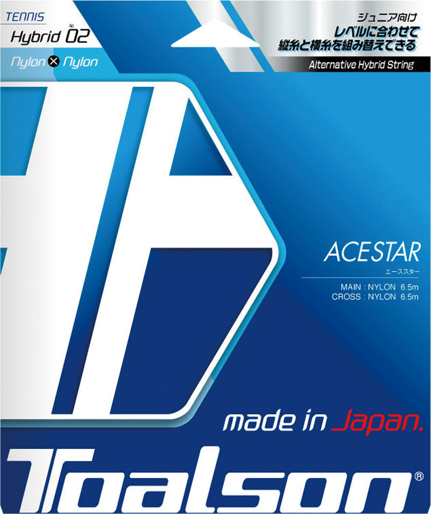 TOALSON 並行輸入品 トアルソン テニス 本物 ガット ホワイト×レッド7462010R ラバー テニスエーススター120