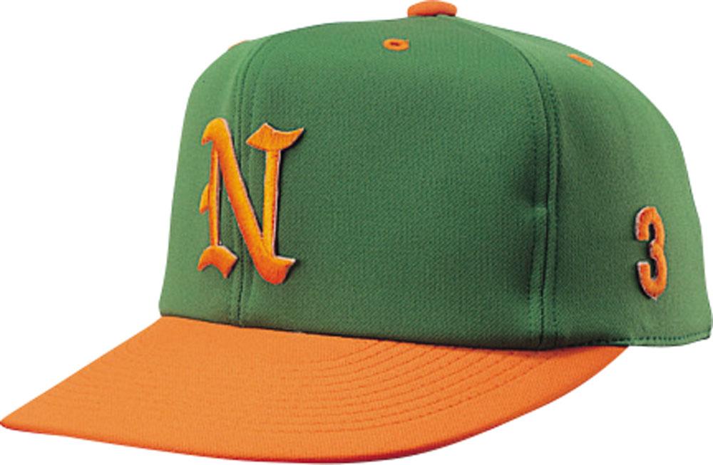 完売 ナショナルハット アウトレットセール 特集 NATIONAL HAT 帽子 グリーン オレンジ HAT男女兼用 野球帽子 ジュニア オールニットN7522GO