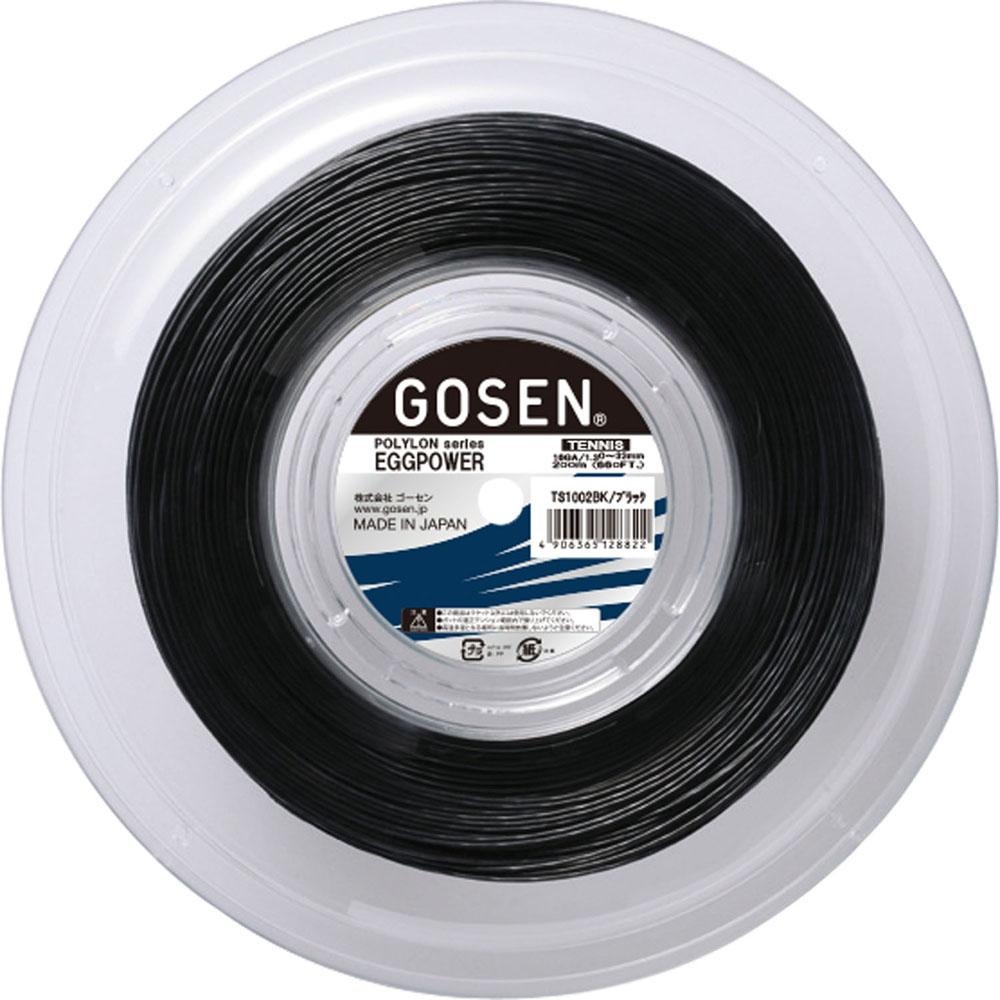 GOSEN ゴーセン テニス ガット ラバー 200mロールTS1002BK EGGPOWER 開店記念セール ブラック テニス硬式テニス 新品 16