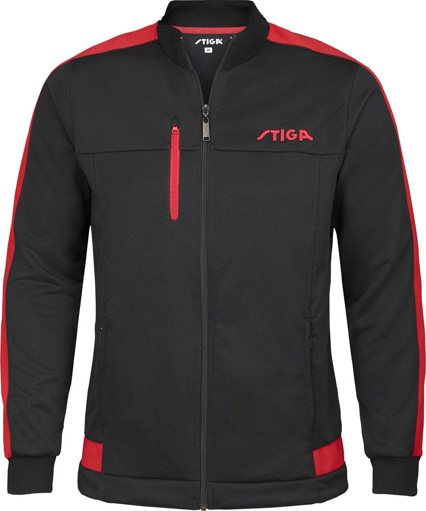 STIGA 品質保証 スティガ 卓球 ウインドウェア 10日から11日2時 P最大10倍 ドリーマージャケット 激安通販ショッピング 卓球卓球アパレル ブラック×レッド XL1861245207