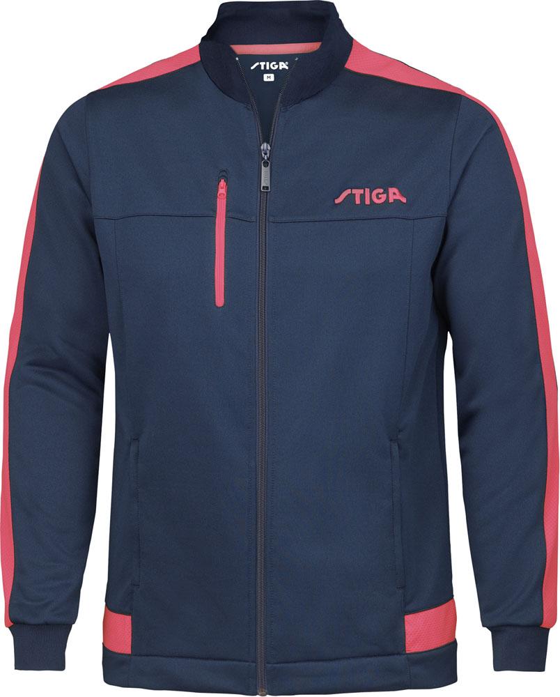 STIGA スティガ 卓球 ウインドウェア 捧呈 10日から11日2時 ネイビー×ピンク ドリーマージャケット 卓球卓球アパレル P最大10倍 M1861257405 割引も実施中