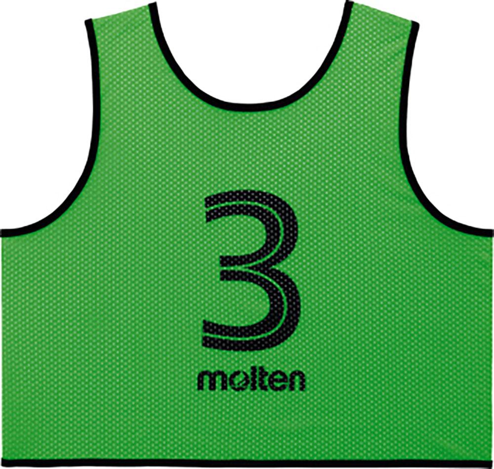 モルテン(Molten)マルチSPゲームベスト 蛍光グリーンGS0113KG GV10枚セット