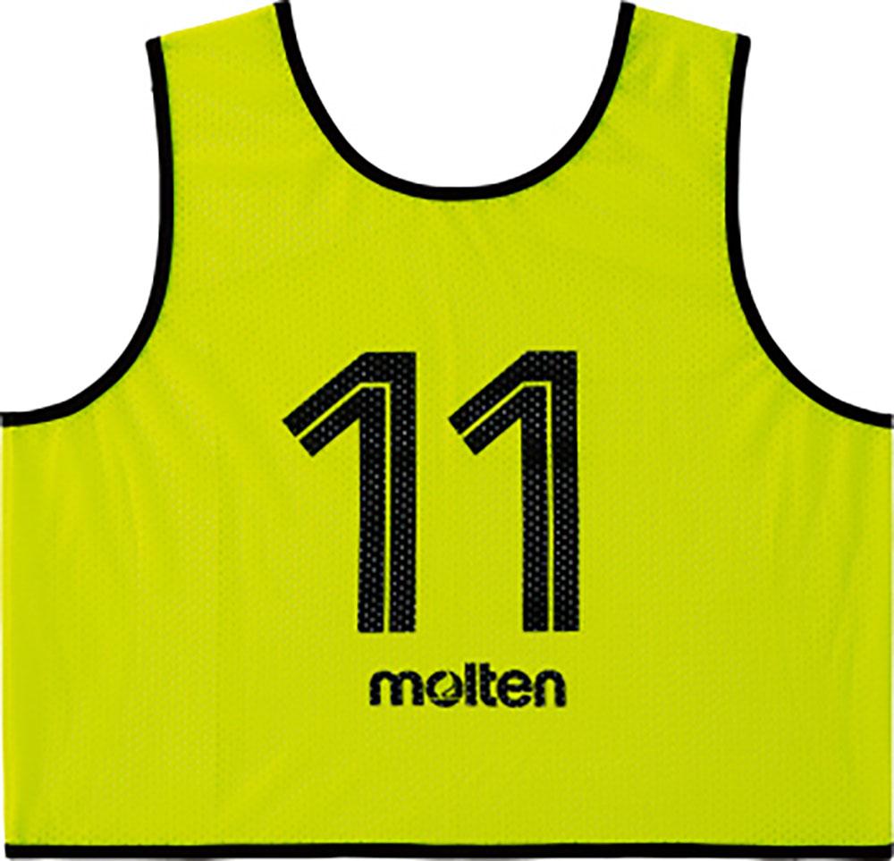 モルテン(Molten)マルチSPゲームベスト GV10枚セット 蛍光イエローGS0113KL