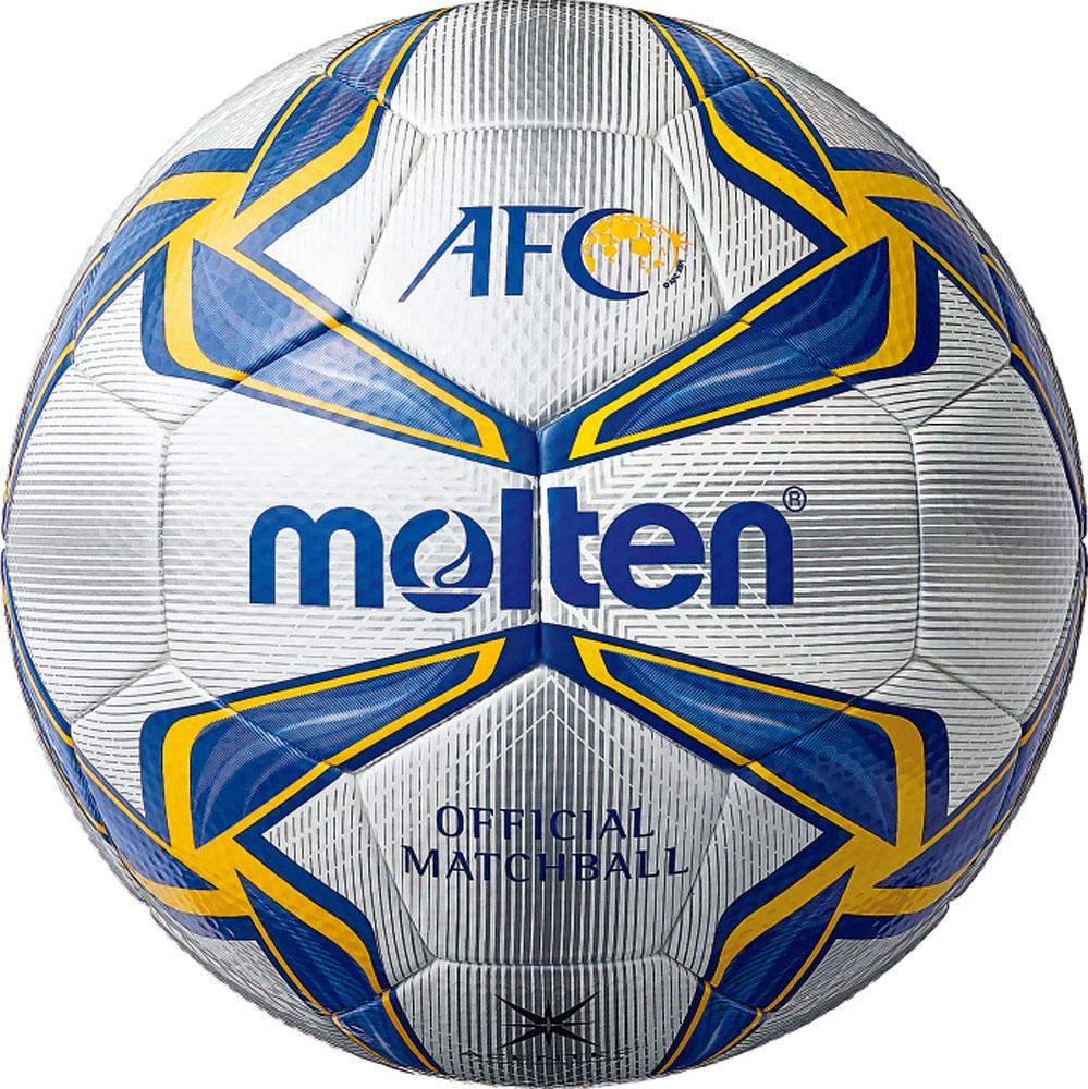 【ラッキーシール対象】モルテン(Molten)サッカーボールモルテン フットボール 5号球 AFC 試合球 ホワイト×ブルー×イエローF5V5003A