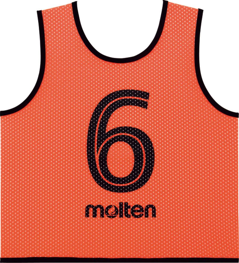 【ラッキーシール対象】モルテン(Molten)マルチSPウェアその他ゲームベスト GVジュニア10枚セット 蛍光オレンジGS0112KO