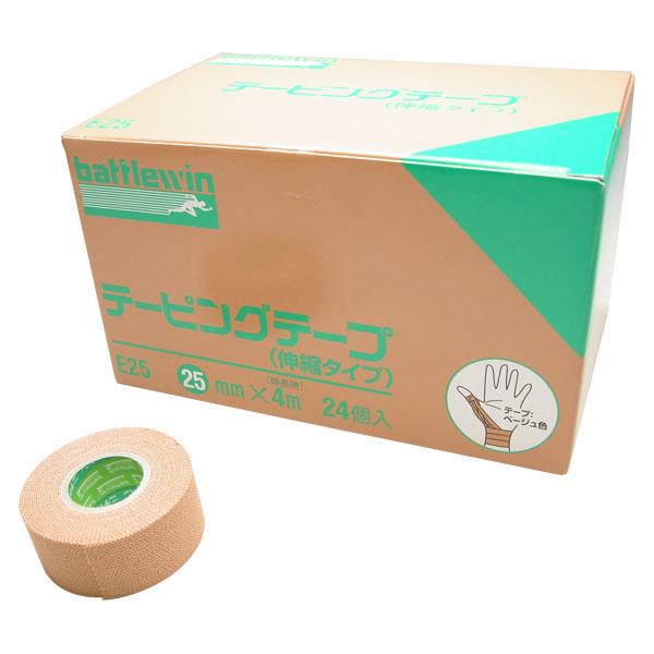 【ラッキーシール対象】ニチバンボディケアサポーター・テープEタイプ(伸縮) 25mm 24ロールE25