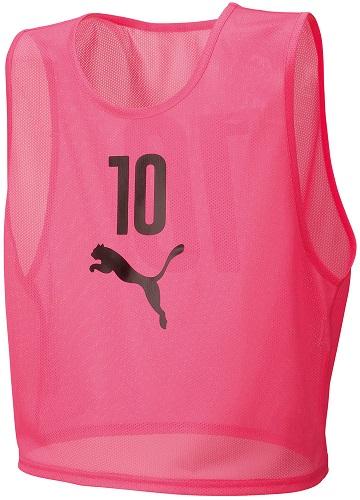 【ラッキーシール対象】PUMA(プーマ)サッカーゲームシャツ・パンツビブスセット(10枚組)92060405PINK GLO
