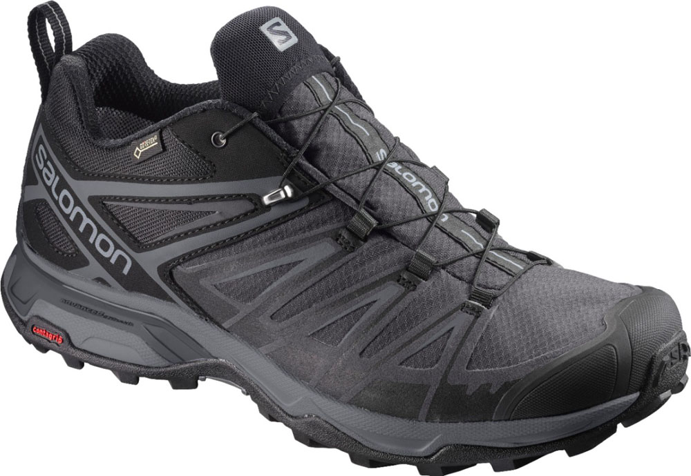 SALOMON(サロモン)アウトドアシューズメンズ X ULTRA 3 WIDE GORE-TEX (BLACK×MAGNET×QUIETSHADE)L40659600