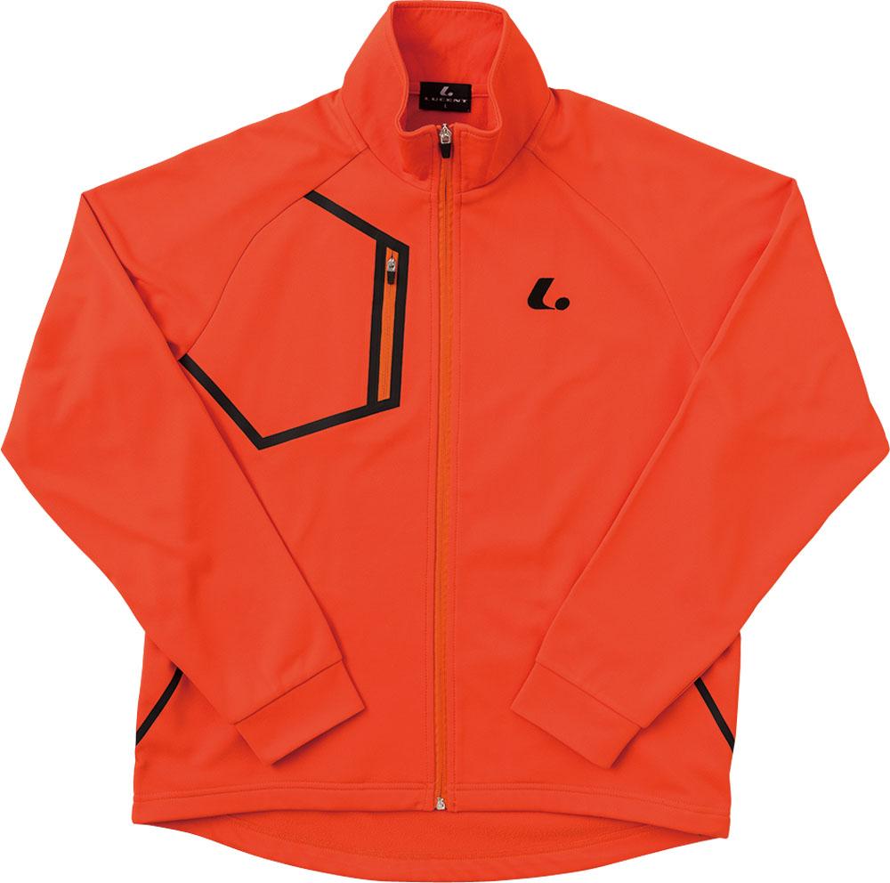 【ラッキーシール対象】LUCENT(ルーセント)テニストレーニングウェアユニセックス ウォームアップシャツ オレンジXLW4802