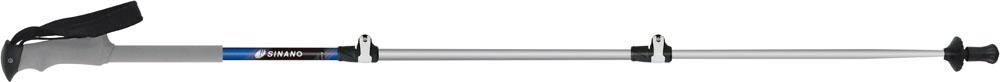【ラッキーシール対象】SINANO(シナノ)アウトドアスキーポール登山 トレッキングポール 初心者おすすめモデル ロングトレイル 125 ブルー113486