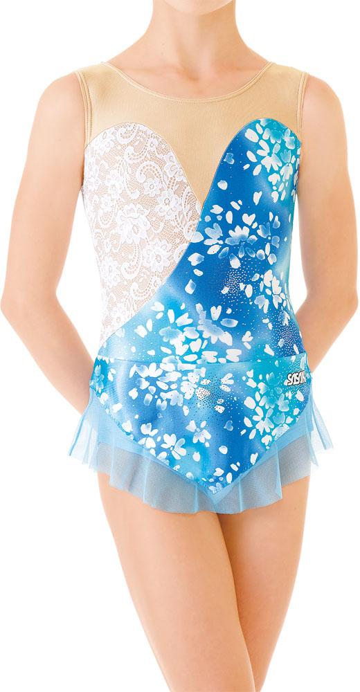 【ラッキーシール対象】 ササキ(SASAKI)新・体操FTレオタードスカート付きレオタード ジュニア用J7365SBUW
