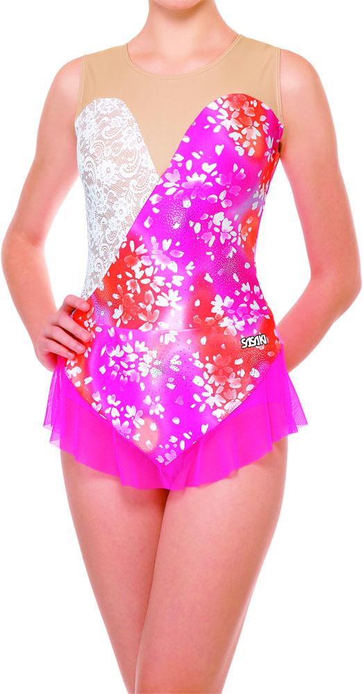 【ラッキーシール対象】ササキ(SASAKI)新・体操FTレオタードスカート付きレオタード ジュニア用J7365SPW
