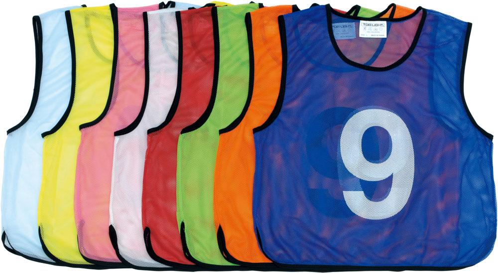 トーエイライト学校体育器具メッシュベストジュニア 1~10(サックスブルー)B3256S